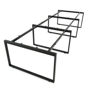 HCRT014- Chân sắt bàn cụm 6 hệ Rectang 120x360cm lắp ráp