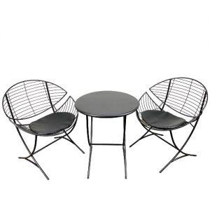 Bộ bàn 2 ghế cafe, thư giãn Cánh Diều sắt sơn tĩnh điện CBCF022