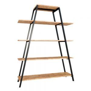 Kệ khung sắt chữ A 5 tầng gỗ cao su KKS001