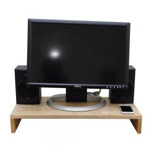 MS68001 - Kệ gỗ kê màn hình máy tính Monitor Stand - 57x30x9 (cm)