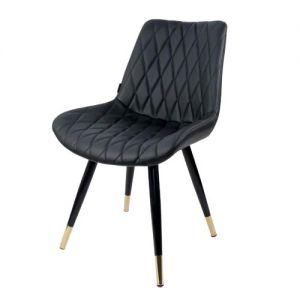 Ghế ăn chân sắt, mặt ghế bọc nệm da GCF041