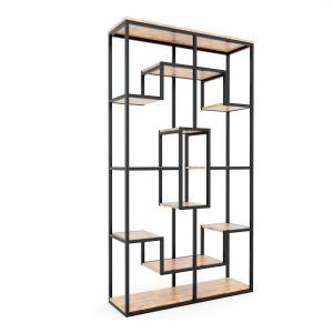 KS68062 - Kệ trang trí gỗ khung sắt 100x30x182(cm)