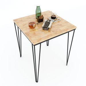 CFD68050 - Bàn cafe vuông CoffeeDesk chân Hairpin  60x60x75 (cm)