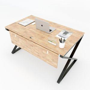 Bàn làm việc 80x140cm gỗ cao su hệ XConcept HBXC006