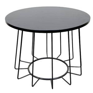 Bàn sofa tròn mặt gỗ kết hợp khung sắt TT68090