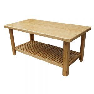 TT68093 - Bàn trà gỗ tre 101x51x45(cm)
