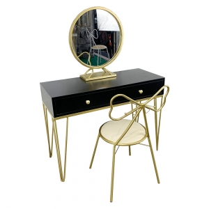 Bộ bàn trang điểm PRINCESS chân màu đồng BTD68027
