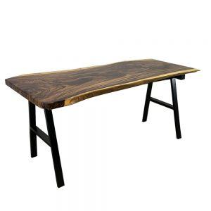 BMT047 - Bàn gỗ Me Tây Nguyên Tấm dày 5cm chân chữ A (70x160cm)