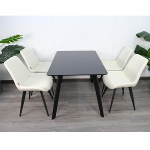 Combo bộ bàn ăn Eames và 4 ghế ngồi có đệm CBBA021