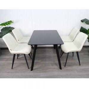 Bộ bàn ghế ăn Eames và 4 ghế ngồi có đệm CBBA021