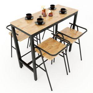 Combo bộ bàn bar và 4 ghế bar COZY nhiều màu CBCF031
