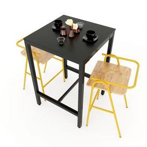 CBCF032 - Combo bộ bàn bar và 2 ghế bar COZY nhiều màu