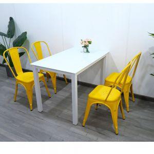 CBBA006 - Combo bàn ghế ăn 4 người và ghế tolix