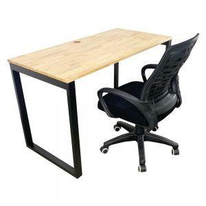 Combo bàn làm việc Rectang và ghế nệm chân xoay CB68059