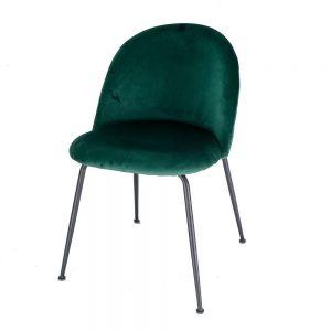 GCF044 - Ghế cafe mặt nệm nhung chân màu đen