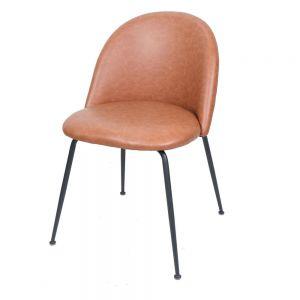GCF045 - Ghế cafe mặt nệm simili chân màu đen