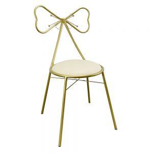 GTD002 - Ghế nơ bàn trang điểm PRINCESS màu đồng