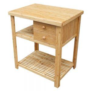 BS008 - Kệ bếp gỗ tre có ngăn kéo 75x56x85(cm)