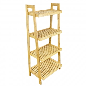 BS009 - Kệ phòng tắm gỗ tre 4 tầng 54x34x120(cm)