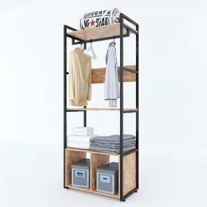 KQA68039 - Kệ quần áo VEGA đa năng có hộc tủ 80x45x200(cm)