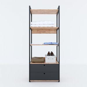 KQA68041 - Kệ quần áo VEGA 4 tầng có hộc tủ 80x45x200(cm)