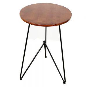 CFD68052 - Bàn cafe tròn màu cánh gián chân sắt sơn tĩnh điện