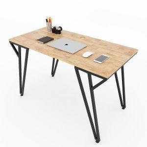 Bàn làm việc 120x60x75(cm) gỗ cao su chân sắt chữ Y SPD68138