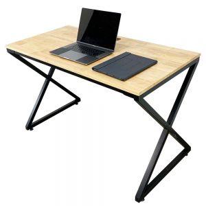 Bàn làm việc 120x60x75(cm) gỗ cao su hệ Minimal chân chữ X lắp ráp SPD68139