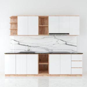 BTB68002 - Bộ hệ tủ bếp gỗ cao su chống ẩm (không bao gồm mặt đá và bồn rửa)