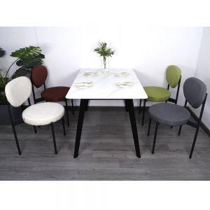 Combo bộ bàn ăn Aster và 4 ghế ngồi có đệm nhiều màu CBBA024