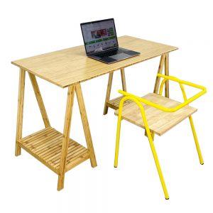 CB68063 - Combo bàn làm việc gỗ TRE ÉP và ghế COZY