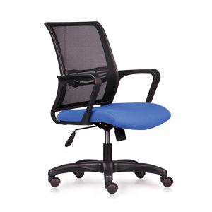 Ghế văn phòng chân xoay nệm màu xanh HOM1016-02