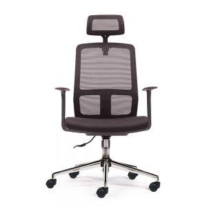 HOM1056-01- Ghế văn phòng chân xoay có tựa đầu