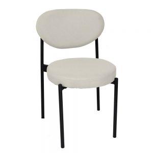 Ghế cafe, ghế ăn Verpan chân sắt sơn tĩnh điện nệm nhiều màu GCF047