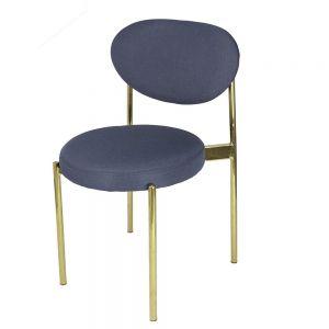 GCF048 - Ghế cafe Verpan chân màu vàng đồng nệm nhiều màu