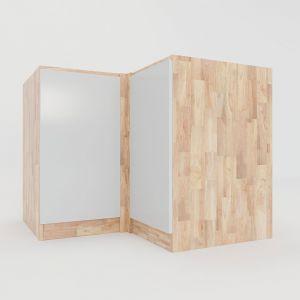 MTBD009 - Module tủ bếp dưới hệ 2 cửa mở góc chữ L 203x58x82(cm)