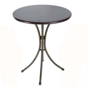 Bàn cafe tròn  gỗ chân sắt ngoài trời Kite02 - CFD68060