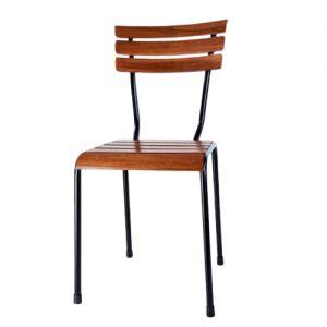 GCF053 - Ghế cafe ngoài trời gỗ kết hợp khung sắt Kite