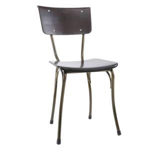 GCF054 - Ghế cafe ngoài trời khung sắt màu đồng Kite 02