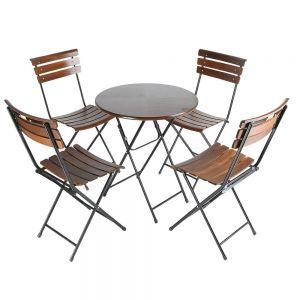 CBCF037 - Combo bộ bàn ghế cafe ngoài trời Patio