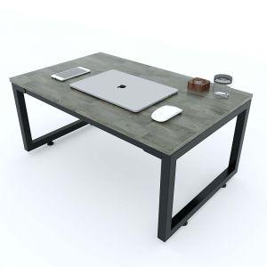 Bàn ngồi bệt 100x60x35(cm) gỗ cao su chân sắt lắp ráp SPD68153