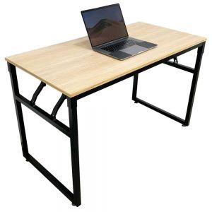 Bàn làm việc gỗ Plywood chân sắt gấp gọn 120x60x75cm HOBP021
