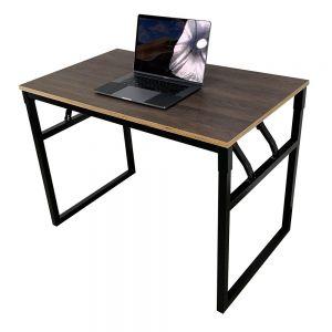 Bàn làm việc gỗ Plywood chân sắt gấp gọn 100x60x75cm HOBP026