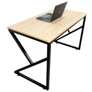 Bàn làm việc gỗ Plywood chân sắt chữ K lắp ráp HOBP017