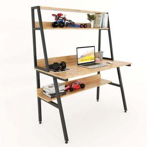 Bàn học gỗ cao su kết hợp kệ sách 120x60x145(cm) FD68044