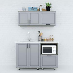 Hệ tủ bếp mini 1m2 gỗ cao su chống ẩm  BTB68011