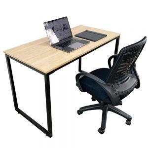 Combo bàn làm việc gỗ Plywood và ghế chân xoay CB68077