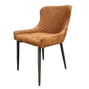 Ghế ăn vải da chân sắt sơn tĩnh điện GA68011