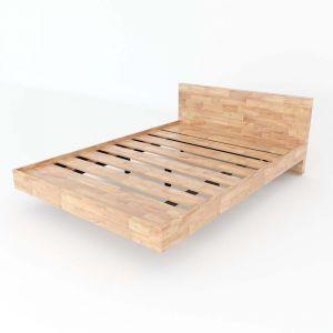 Giường ngủ VEGA gỗ cao su khung sắt lắp ráp GN68022