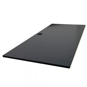 Mặt bàn gỗ cao su màu đen đã PU hoàn thiện MB002